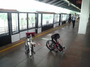 Bikes waiting for MRT