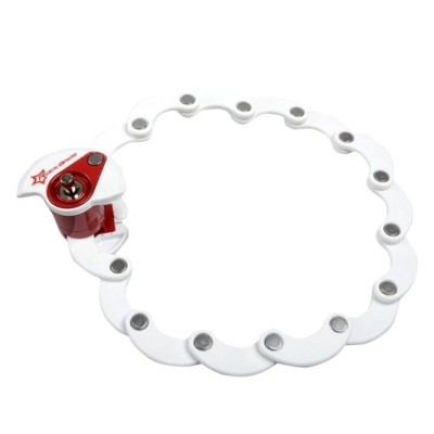 lock for road bike white red